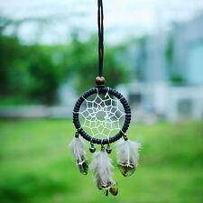 Handmade Flax Dream Catcher Net Necklace feather Vintage Native Ornament Gift