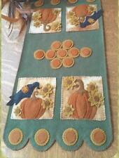 Pumpkin Harvest Penny Rug Table Runner quilt pattern by Cath's Pennies Designs