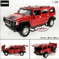 1:24 Hummer H2 Alloy Diecast car Model Collection Toy Vehicle Gift Red 2206