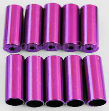 Dia-Compe aluminum alloy bicycle brake cable ferrules (PACK OF 10) PURPLE