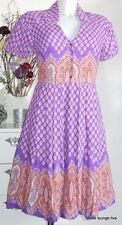 Noa Abito A Palloncino Westlake XS 34 Viscosa Memoria kjole prugna secca lilla