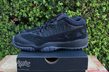 NIKE AIR JORDAN 11 RETRO XI LOW BG GS SZ 6 Y BLACK TRUE RED REFEREE 768873 003