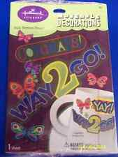 Congrats Way 2 Go Birthday Party Favor Decorations Laptop Book Decal Stickers