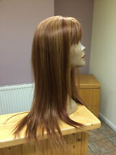 "Real Ladys100% Human Hair Wigs Ladies Wig Mixed Auburn Colour ""P27/30/33  Long"