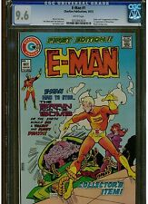 E MAN #1 CGC 9.6 WHITE PAGES NEAR MINT + 1973 CHARLTON COMICS 1ST APPEARANCE
