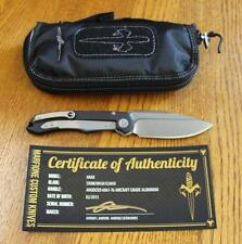 NEW Microtech CUSTOM Anax Folding Knife Anodized Aluminum & SW ELMAX One of 30!!