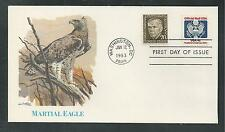 #O/128 OFFICIAL MAIL STAMP, MARTIAL EAGLE CACHET 1983 Fleetwood First Day Cover