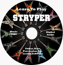 Stryper Guitar,Bass,Drum TABS, 42 Songs! Lesson CD for Windows,Linux,MAC