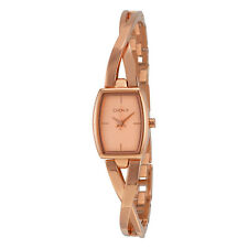 DKNY Cross Walk Bangle Rose Dial Rose Gold-tone Ladies Watch NY2314