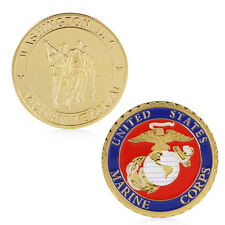 United States Marine Corps Gold Plated Commemorative Coin Collectible