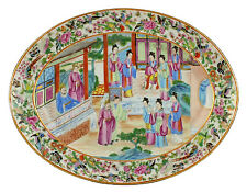 Early 19thC Antique Chinese Famille Rose Mandarin Platter
