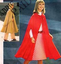 EASY Vintage 70s CAPE Sewing Pattern ONE SIZE Evening RETRO Goth JIFFY Hood