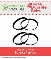 4 Durable Eureka U Belts Fit Whirlwind & Victory # 61120A 61120B 61120C 61120D
