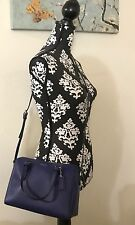 Coach Peyton Bennett Leather Mini Satchel Crossbody Bag Purse Navy Blue NWOT