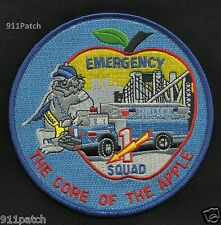 New York Police Emergency Service Unit Truck Squad 1 Police Patch Core of Apple
