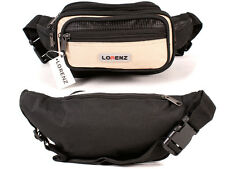 Mens Polyester Beige/Black Waist Bag By Lorenz New And Sealed
