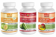 Garcinia Cambogia + Green Coffee Cleanse + African Mango Weight Loss (1+1+1)