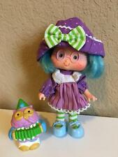 Vintage 1980's Strawberry Shortcake PLUM PUDDIN' doll Party Pleaser pet owl