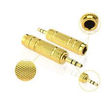 Macho 3.5 mm A 6.5 mm Hembra Conector Jack estéreo Audio Adaptador  Auriculares