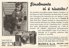 W2885 ZEISS IKON Contax II - Finalmente ci è... - Pubblicità del 1937 - Old ad