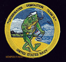 UDT Underwater Demolition Team 12 PATCH US NAVY SEAL VIETNAM PIN UP USS FROG WOW