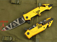 New Assisted opening Knife EXTREMA RATIO MF3 Tactical Golden Saber Aluminum Tool