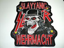 SLAYER  SLAYTANIC  WEHRMACHT   EMBROIDERED BACK PATCH
