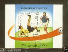 AFGHANISTAN  - 1996 - WORLD CUP SOCCER 1998 - FRANCE - 1 MNH CTO Souvenir Sheet