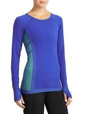 ATHLETA~SAPPHIRE BLUE~COMPRESSION *LONG SLEEVE* GYM YOGA RUN TANK TOP~M (RARE)