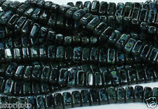 50 CzechMates Two Hole 2-Hole Brick Glass Bead Beads Jet Picasso 3x6mm