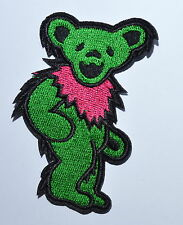 30 pcs/lot Green Grateful Dead DANCING BEAR Biker Punk Embroidery Iron on Patch