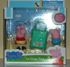 """PEPPA PIG 3"""" ACTION  FIGURES 2 PACK PEPPA & GEORGE ICE CREAM TIME"""