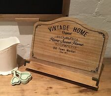 Country Chic Vintage Recipe Book Stand Holder Wooden Shabby Kitchen Rustic