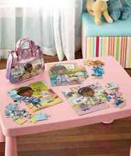 LICENSED CARRY 'N' GO 3 PUZZLE PURSE DOC MCSTUFFINS GIFT Girls Toys ACTIVITIES