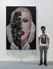 CHRISTINA AGUILERA BIONIC Wall Sculpture Drawing Painting Accesories in Relief