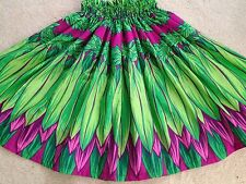 "NEW GREEN  HAWAIIAN HULA PAU PA'U   SKIRT TI  LEAF  PRINT  28"" LONG"