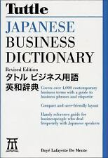 Tuttle Japanese Business Dictionary Revised Edition Japan Linguistics