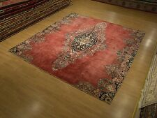 8.5 x 9 Handmade Almost Square Antique Resized Persian Lavar Kerma Fine Wool Rug