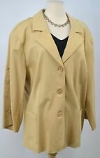 SG Susan Graver QVC button Blazer Suit Jacket light coat eyelet embroidered 3X