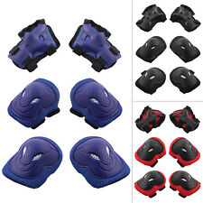 6 Set Professional Adult Knee Elbow Pads for Skateboard Bicycle Cycling Scooter