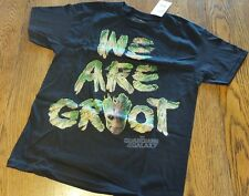 S 6/7 GUARDIANS OF THE GALAXY WE ARE GROOT BOY GIRL BLACK COTTON T SHIRT TEE