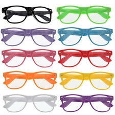 10 Pairs CLEAR ASSORTED COLOR WAYFARER SUNGLASSES glasses lot Black Wholesale