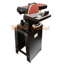"6"" x 9"" Belt Disc Sander with Stand Tilt Table Vertical Horizontal Disk Sander"