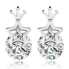 Korea 925 Silver Star Crown Earrings Princess Woman Star Earring Eardrop Gift