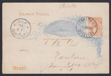BRAZIL, 1894. Post Card H&G 14b, Pernambuco - Hamburg