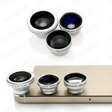 New Universal 3 in 1 Fisheye Lens+Wide Angle+Micro Lens for Iphone & Smart Phone