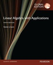 Linear Algebra with Applications 9E by Steven J. Leon 9th (Global Edition)