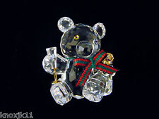 NEW SWAROVSKI Crystal CELEBRATION KRIS BEAR FIGURINE Champagne Bottle Glass NIB!