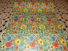 VTG FLORAL STORE WRAPPING PAPER 2 YARDS GIFT WRAP GORGEOUS SPRING SUMMER