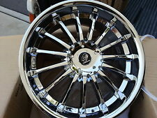"20"" C2 Square C15 Chrome wheels&Tires Fit 5X4.5 40 offset vehicles and more"
